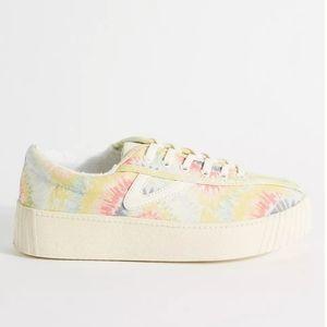 Tretorn Pastel Tie-Dye Platform Sneakers